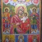 Mère de Dieu Hodigitria , Archange et Saints protecteurs vendue
