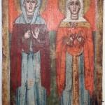Saintes Paraskeva et Kiriaki Grèce circa 1700